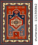 persian carpet  tribal vector... | Shutterstock .eps vector #1121500862