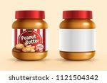 peanut butter spread mockup... | Shutterstock .eps vector #1121504342