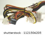 computer cable harness | Shutterstock . vector #1121506205