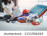 travel and vacation concept ... | Shutterstock . vector #1121506265
