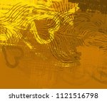abstract painting on canvas.... | Shutterstock . vector #1121516798
