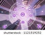 smart city wireless... | Shutterstock . vector #1121519252