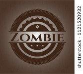 zombie retro wooden emblem | Shutterstock .eps vector #1121520932
