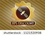 golden emblem or badge with... | Shutterstock .eps vector #1121520938