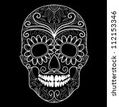 Day Of The Dead Black And Whit...