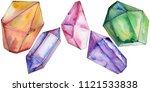 colorful diamond rock jewelry...   Shutterstock . vector #1121533838