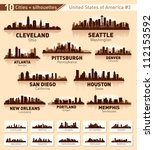 skyline city set. 10 cities of