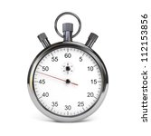 isolated stopwatch on white.... | Shutterstock . vector #112153856
