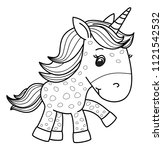 vector cute baby  unicorn ... | Shutterstock .eps vector #1121542532