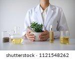 doctor woman scientist making... | Shutterstock . vector #1121548262