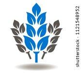 wheat cereals icon vector.... | Shutterstock .eps vector #1121548952