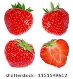 strawberry isolated on white... | Shutterstock . vector #1121549612