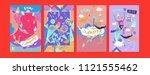 set of summer illustration for...   Shutterstock .eps vector #1121555462