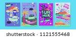 set of summer illustration for...   Shutterstock .eps vector #1121555468