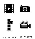 vector photography camera icons ... | Shutterstock .eps vector #1121559272