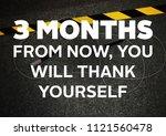 fitness motivation quote | Shutterstock . vector #1121560478