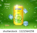 lime juice drink advertising... | Shutterstock .eps vector #1121564258