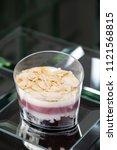 dessert tiramisu in a glass in... | Shutterstock . vector #1121568815