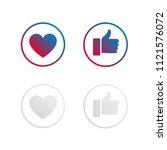 like and love social media... | Shutterstock .eps vector #1121576072