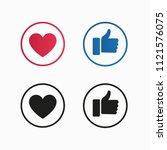 like and love social media... | Shutterstock .eps vector #1121576075