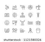 set of engineering outline... | Shutterstock .eps vector #1121580326