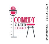 comedy club logo design with...   Shutterstock .eps vector #1121582675