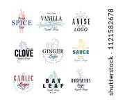 spice logo design set  vanilla  ... | Shutterstock .eps vector #1121582678