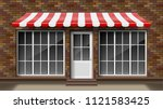 brick small 3d store front... | Shutterstock .eps vector #1121583425