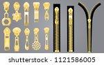 metal golden and plastic...   Shutterstock .eps vector #1121586005