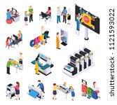 advertising agency production... | Shutterstock .eps vector #1121593022
