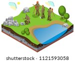 earth exploration isometric...   Shutterstock .eps vector #1121593058