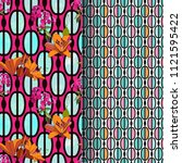 trendy floral seamless pattern... | Shutterstock .eps vector #1121595422