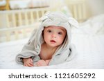 five months old baby boy in a... | Shutterstock . vector #1121605292