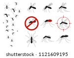 mosquitoes and gnats vector set ... | Shutterstock .eps vector #1121609195