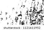 black musical notes on white... | Shutterstock .eps vector #1121611952