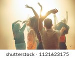 nightlife and disco concept.... | Shutterstock . vector #1121623175