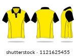 polo shirt design  yellow  ... | Shutterstock .eps vector #1121625455