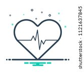colorful icon for cardiology | Shutterstock .eps vector #1121637845