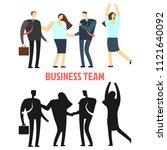 woman and man business team...   Shutterstock .eps vector #1121640092