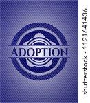 adoption emblem with denim high ... | Shutterstock .eps vector #1121641436