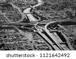 view to flyover in los angeles... | Shutterstock . vector #1121642492
