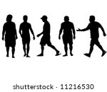 five people walking in... | Shutterstock .eps vector #11216530