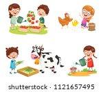 vector illustration of kid... | Shutterstock .eps vector #1121657495