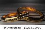 i love you   golden wedding...   Shutterstock . vector #1121661992