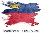 grunge liechtenstein flag.... | Shutterstock . vector #1121672228