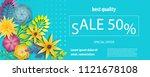 horizontal paper flower sale... | Shutterstock .eps vector #1121678108