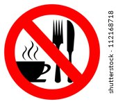 no eat and drink vector sign | Shutterstock .eps vector #112168718