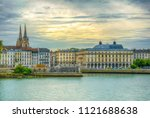cityscape of bayonne dominated... | Shutterstock . vector #1121688638