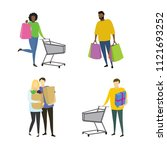 different people buyers with... | Shutterstock .eps vector #1121693252