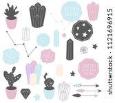 big vector set of cute items... | Shutterstock .eps vector #1121696915